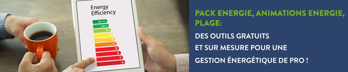 Pack Energie, Animations Energie, PLAGE : des outils gratuits et sur mesure pour une gestion énergétique de pro !