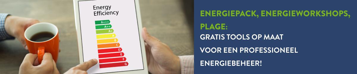 EnergiePack, energieworkshops, PLAGE: gratis tools op maat voor een professioneel energiebeheer!